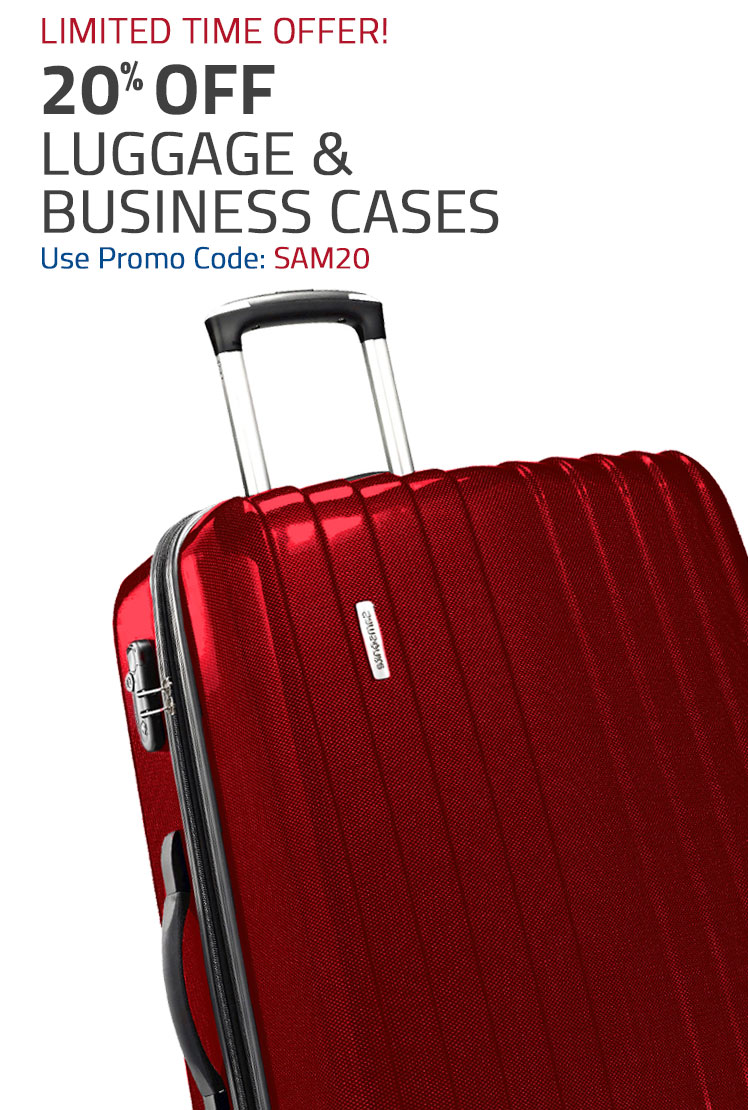 For a Limited Time get 20% Off Luggage & Business Cases. Shop Now.