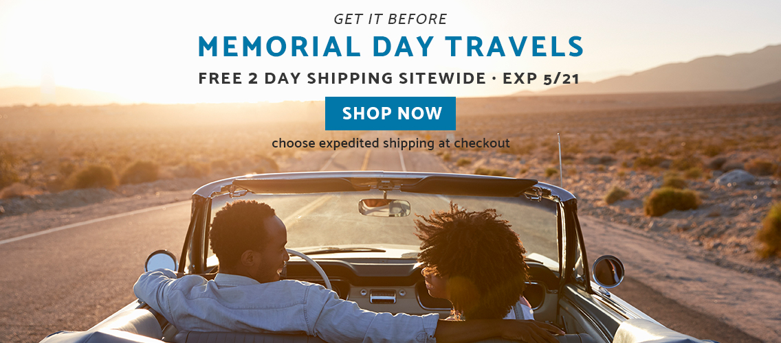 Get it before Memorial Day Weekend with free expedited shipping on all orders. No minimum or promo code needed. Click here to shop now!