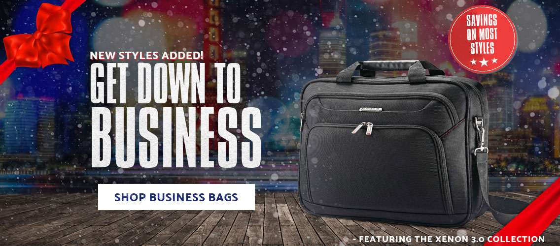 Get down to business with Samsonite Business bags, like the Samsonite Xenon 3.0 Collection. Shop Now.