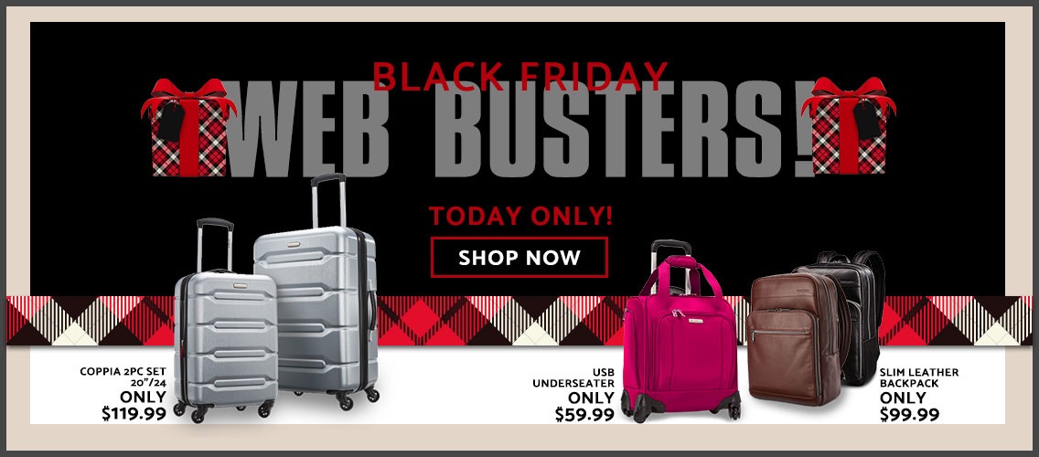 Today Only - Shop special Black Friday Web Busters.