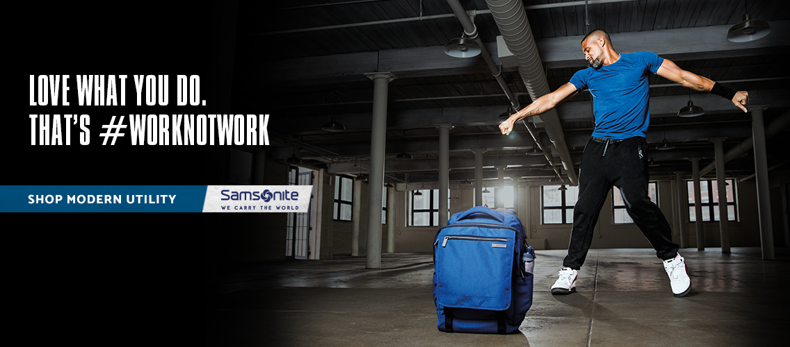 Shaun T. Celebrate's #worknotwork with Samsonite's Modern Utility Collection. Shop Now.