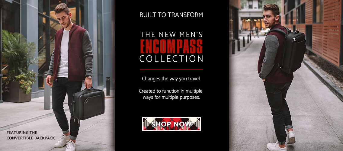 Introducing Samsonite's Encompass Collection for Men- Built to transform and change the way you travel. Shop Now!