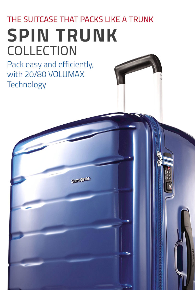 Samsonite Spin TrunkCollection - The Suitcase that packs like a Trunk. Shop Now.