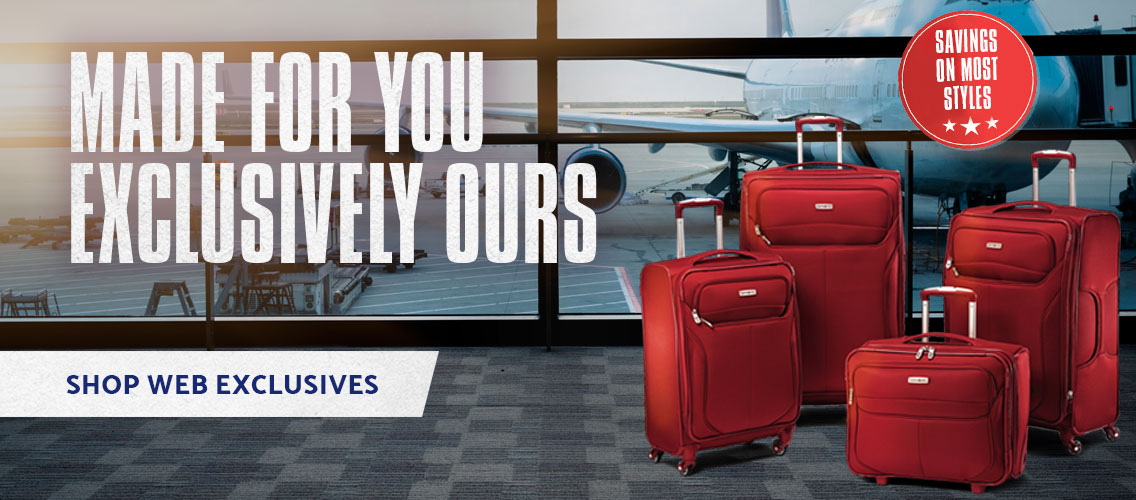Samsonite Exclusive products.Made for you, Exclusively ours. Shop Now.