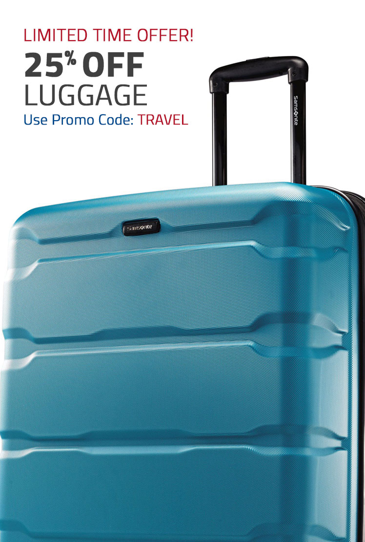 Limited Time Offer! 25% Off Luggage - Use Promo Code: TRAVEL. Shop Now.