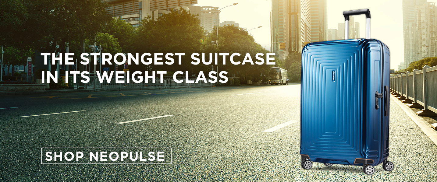 Samsonite's NeoPulse Collection. The strongest suitcase in its weight class.. Shop Now.