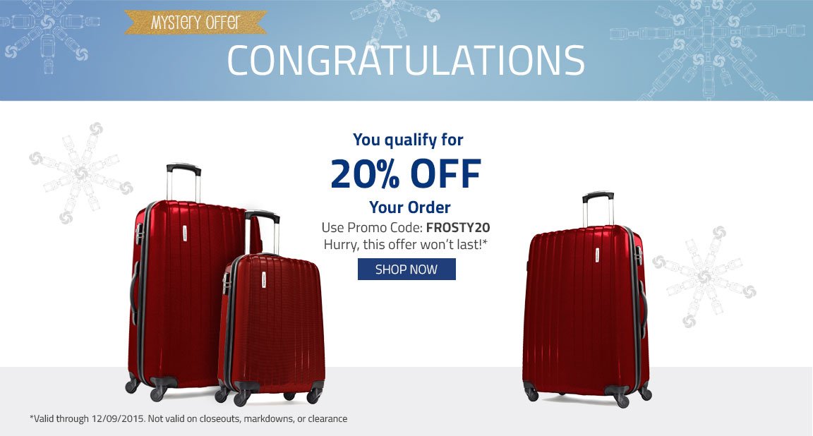 Congratulations! You quality for 20% Off Your Order. Use Promo Code:FROSTY20