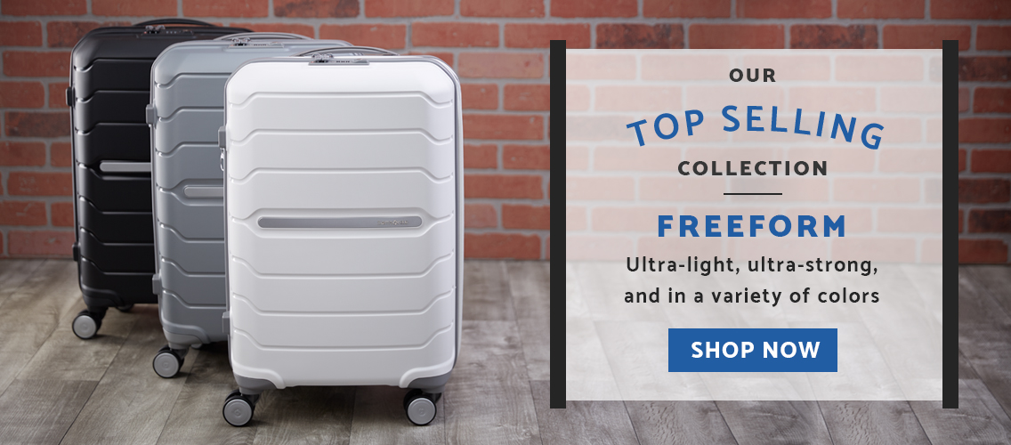 Samsonite's top selling collection, Freeform. Shop this ultra-light, ultra-strong hardside collection in a variety of colors today!