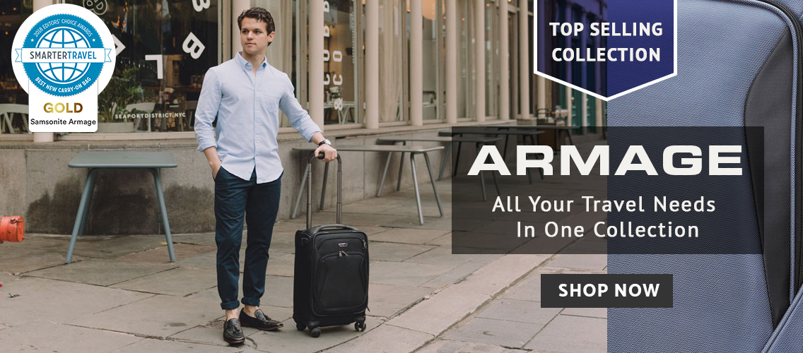 Samsonite Armage Collection - Winner: Best Carry-On from SmarterTravel.com of  Click here to Shop Now.