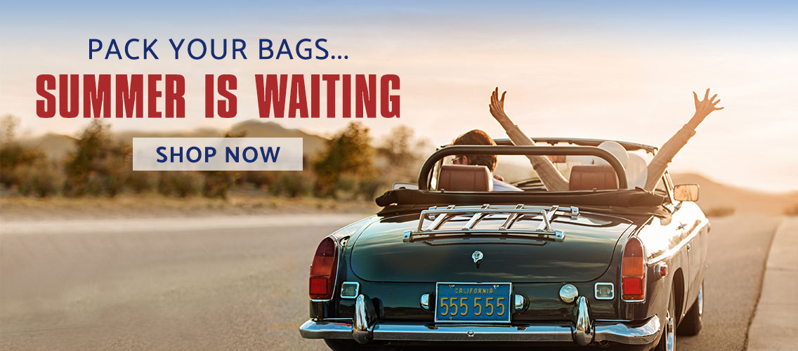 Pack you Bags....Summer is waiting. Shop Summer Travel products Now.