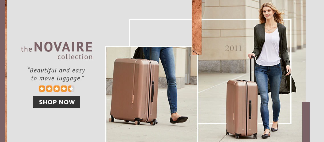 Samsonite Novaire Collection. Beautiful and Easy to move luggage. Click here to shop now!