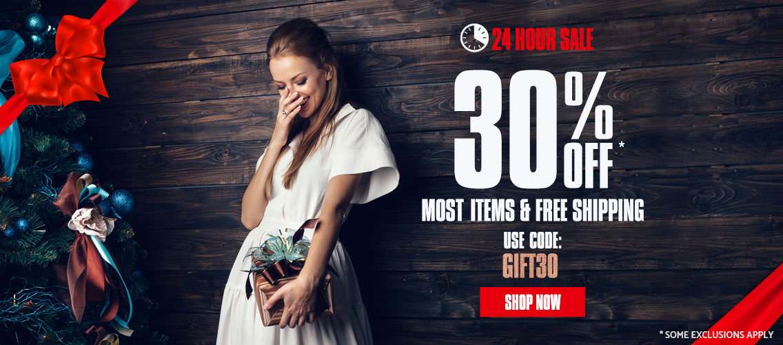 24 Hours Only -  Get 30% off Most Items and Free Shipping. Use Code: GIFT30. Shop Now.