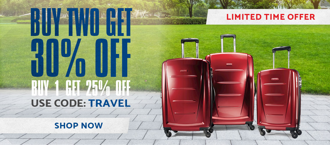 Buy 1 get 25% off, Buy 2+ get 30% off  Use code: TRAVEL Shop Now.