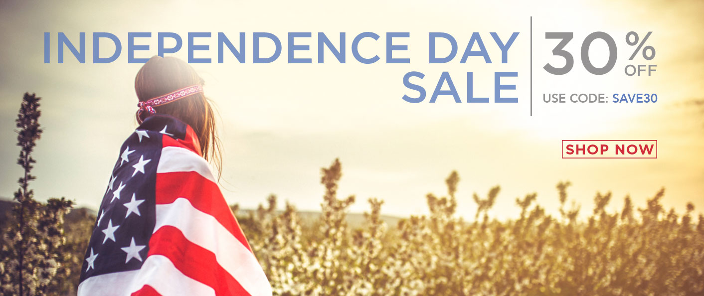 For a Limited Time Only - 30% Off Independence Day Sale. Use promo Code: SAVE30. Shop Now.