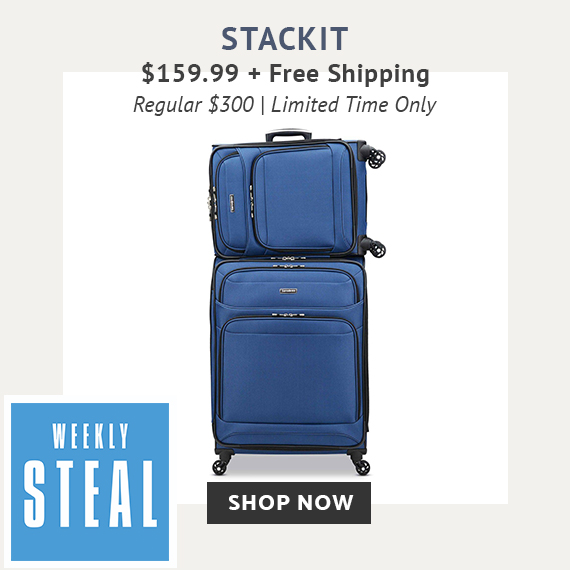 Limited Time Only - Weekly Steal - StackIt 2PC Set For Only $159.99 plus free standard shipping. No code needed at checkout. Free shipping is automatically applied at checkout. Click here to shop now while supplies last only on shop.samsonite.com. Shop Now.
