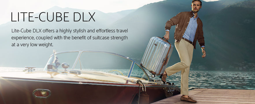 Samsonite Lite-Cube DLX Luggage Collection. Offers offers a highly stylish and effortless travel experience, coupled with the benefit of suitcase strength at a very low weight.