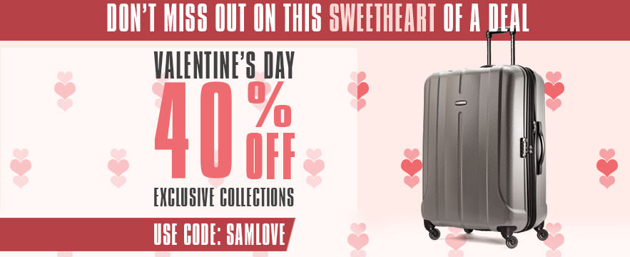 Special Valentine's Day - 40% off Exclusives - Use Promo Code: SAMLOVE . Shop Now.