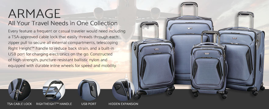 The Samsonite Armage Collection. Shop Now.