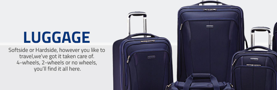 Samsonite Luggage - Softside or Hardside, however you  like to travel, we've got it taken  care of.  4-wheels, 2-wheels or  no wheels,  you'll find it all here. Shop now.