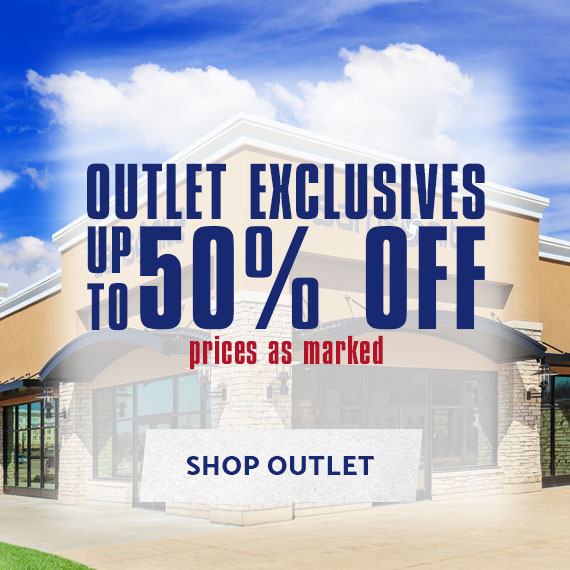 Outlet Exclusives - Up to 50% off. Prices as marked. Shop Now.