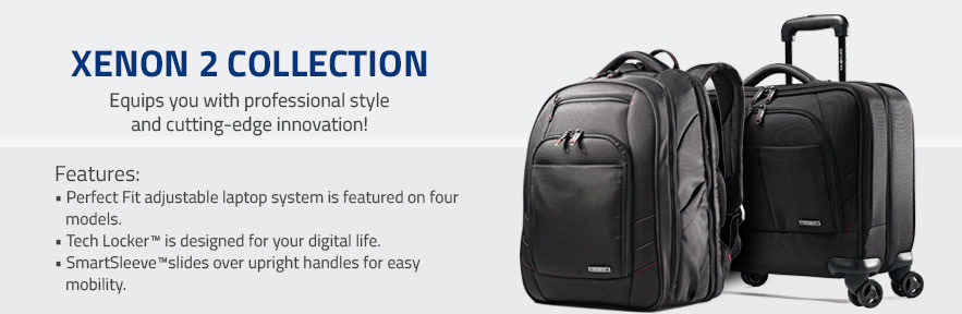 The Samsonite Xenon 2 Collection - Equips you with professional style and cutting-edge innovation! Shop Now.