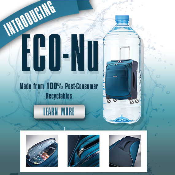 Discover the new Samsonite Collection made from 100% Post-Consumer Recyclables. Discover the Eco-Nu Collection. Shop Now.