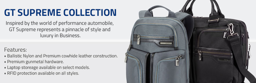 Explore Samsonite's GT Supreme Collection. Inspired by the world of performance automobiles,  GT Supreme represents apinnacle of style and luxury in Business. Shop Now.