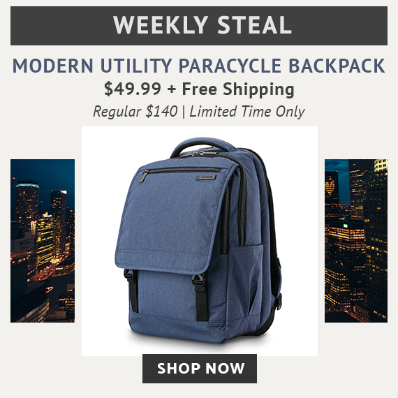 d4cc2cd1601 Limited Time Only - Weekly Steal - Modern Utility Paracycle Backpack only  $49.99 plus free standard