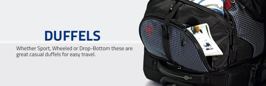 Whether Sport, Wheeled or Drop-Bottom these are great casual duffels for easy travel.