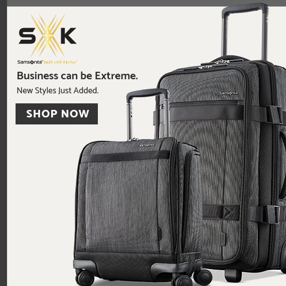 Samsonite SxK Collection  Business to the extreme. Shop this business collection from Samsonite that is built with Dupont™Kevlar®. Click here to Shop Now.
