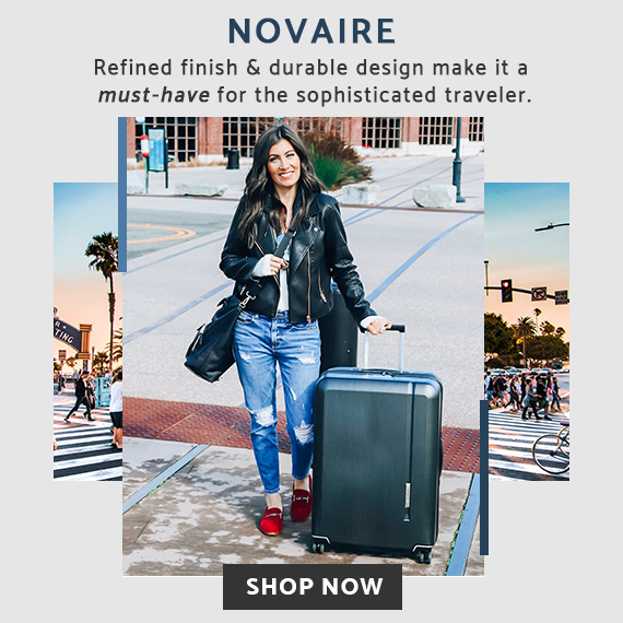Minimalist design, maximum impact with the Novaire Collection by Samsonite. Click here to shop now!