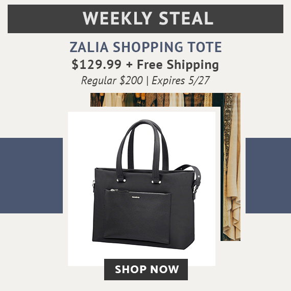 Limited Time Only Weekly Steal - Zalia Shopping Bag for only $129.99 plus free standard shipping. No code needed. Click here to shop now!