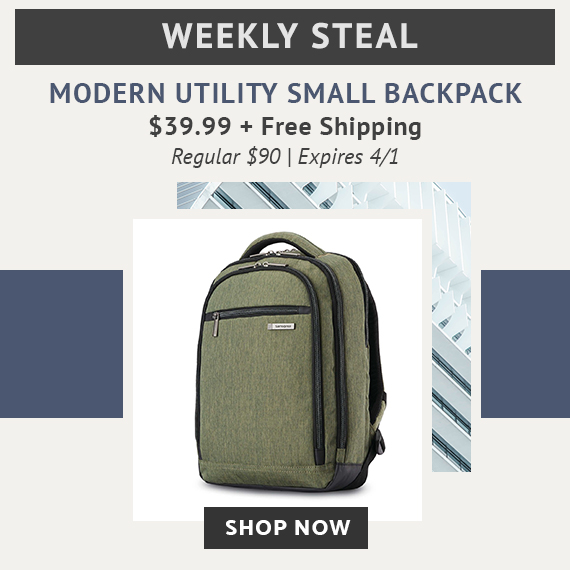 Limited Time Only - Weekly Steal - Modern Utility Small Backpack only   39.99 plus FREE standard ad188353867db