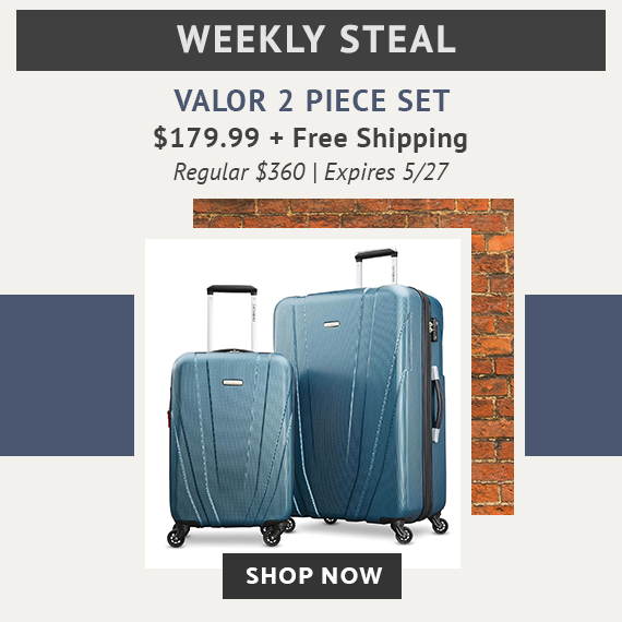 Limited time offer, Weekly Steal Special Pricing for Valor 2 Piece set, for only $179.99. No Code needed. Plus Free Standard Shipping. Click Here To Shop Now!