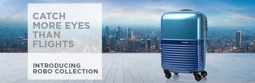 Samsonite's Robo Spinner Luggage Collection. Catch more eyes than flights. Shop Now.