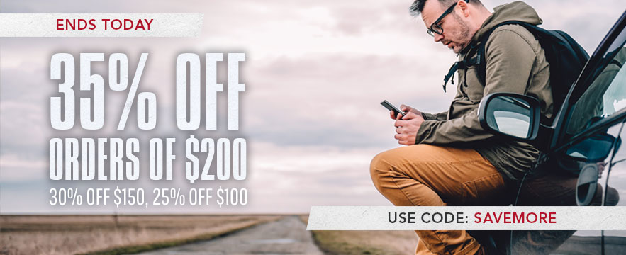 Limited Time Offer - Buy More Save More. Spend $200 get 35% off. Spend $150 get 30% off, Spend $100 get 25% off. Use Promo Code: SAVEMORE. Shop Now.