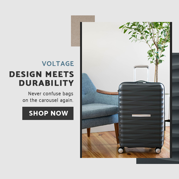 Design meets durability with the Samsonite Voltage Hardside Collection. Click here to shop now!