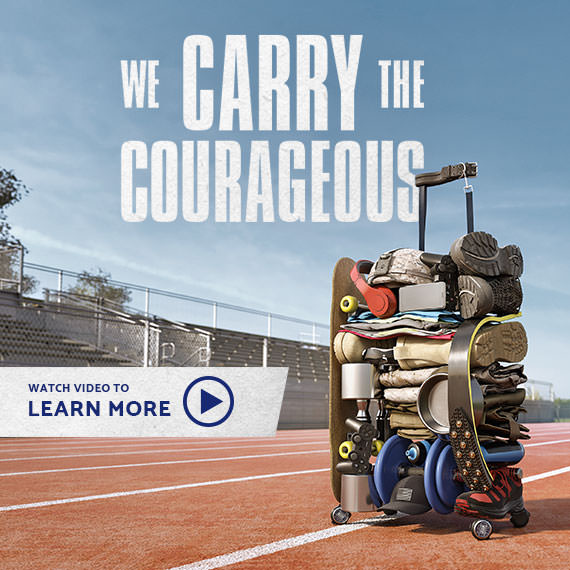 We carry the Courageous.   Samsonite - We Carry the World!